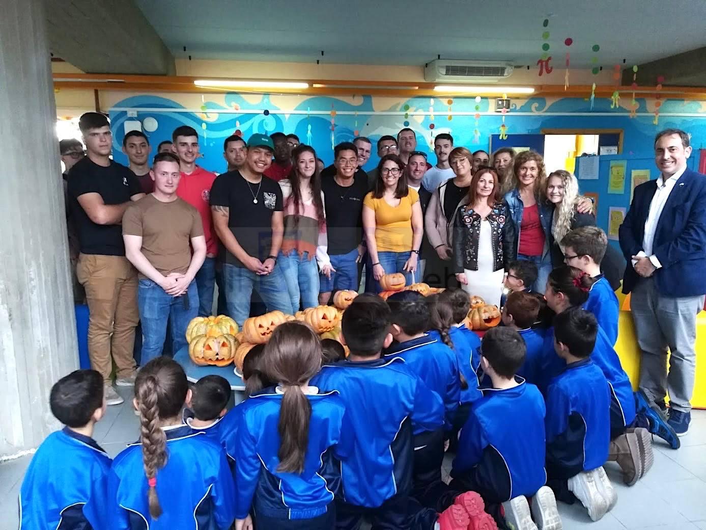 Marines di Sigonella al Casella di Pedara per condividere la tradizione di Halloween