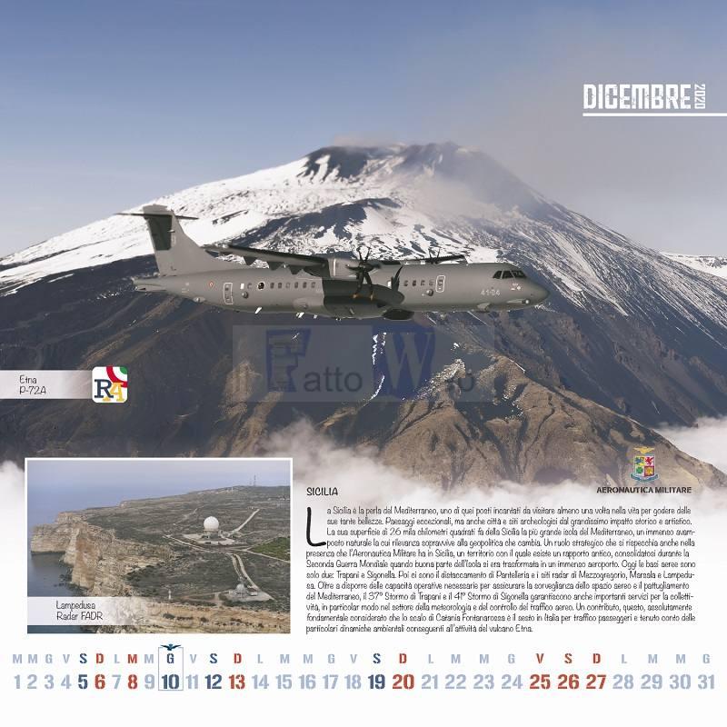 L'Aeronautica Militare dedica alla Sicilia alcuni scatti del proprio calendario 2020