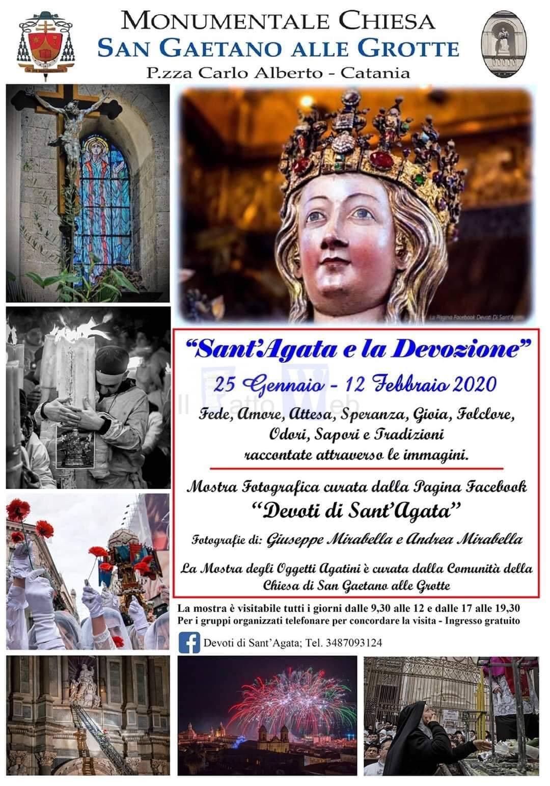 Dal 25 gennaio al 12 febbraio mostra agatina a San Gaetano alle Grotte