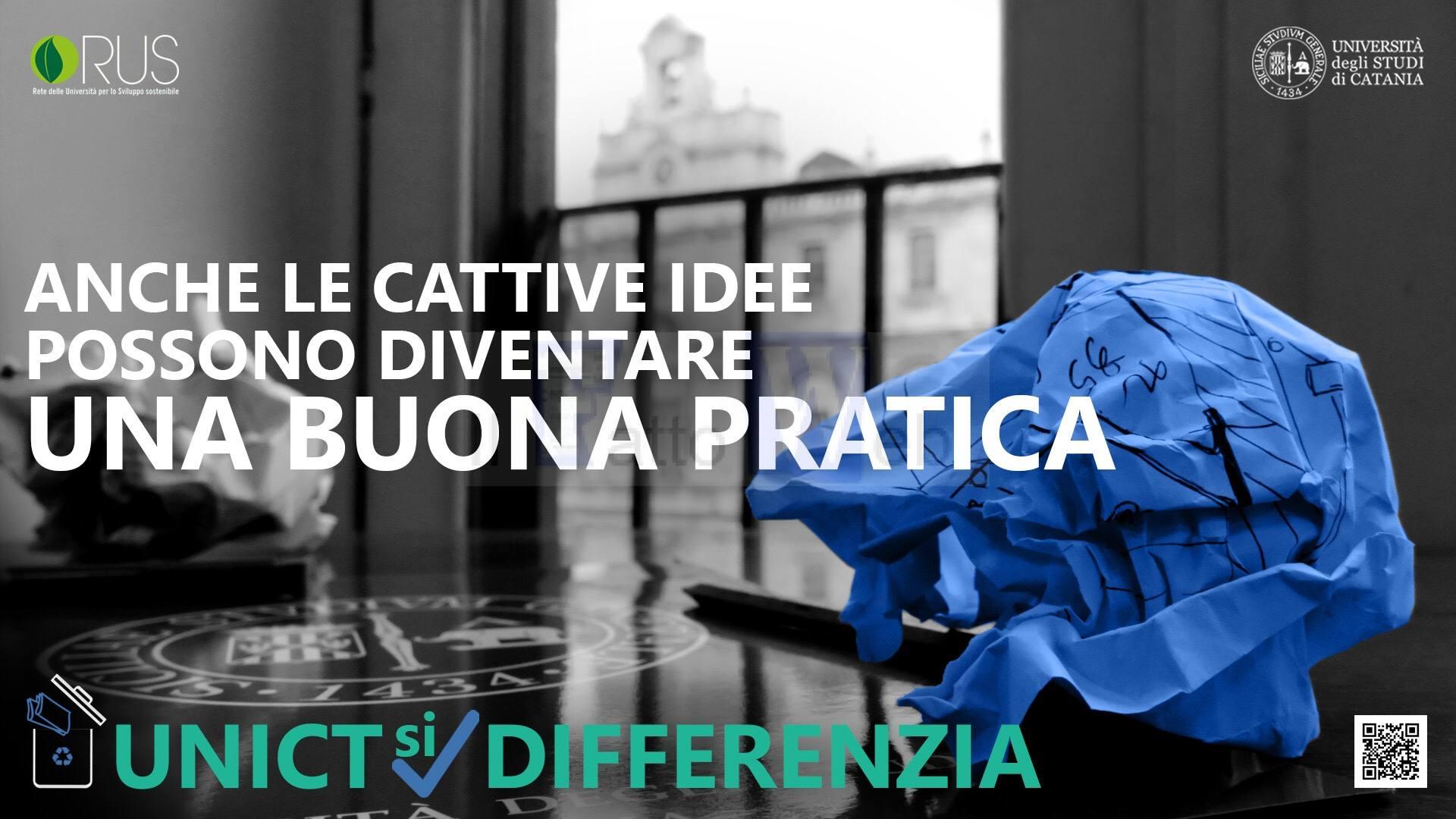 """""""Unict si differenzia"""": parte oggi la campagna di sensibilizzazione sulla raccolta differenziata in Ateneo"""