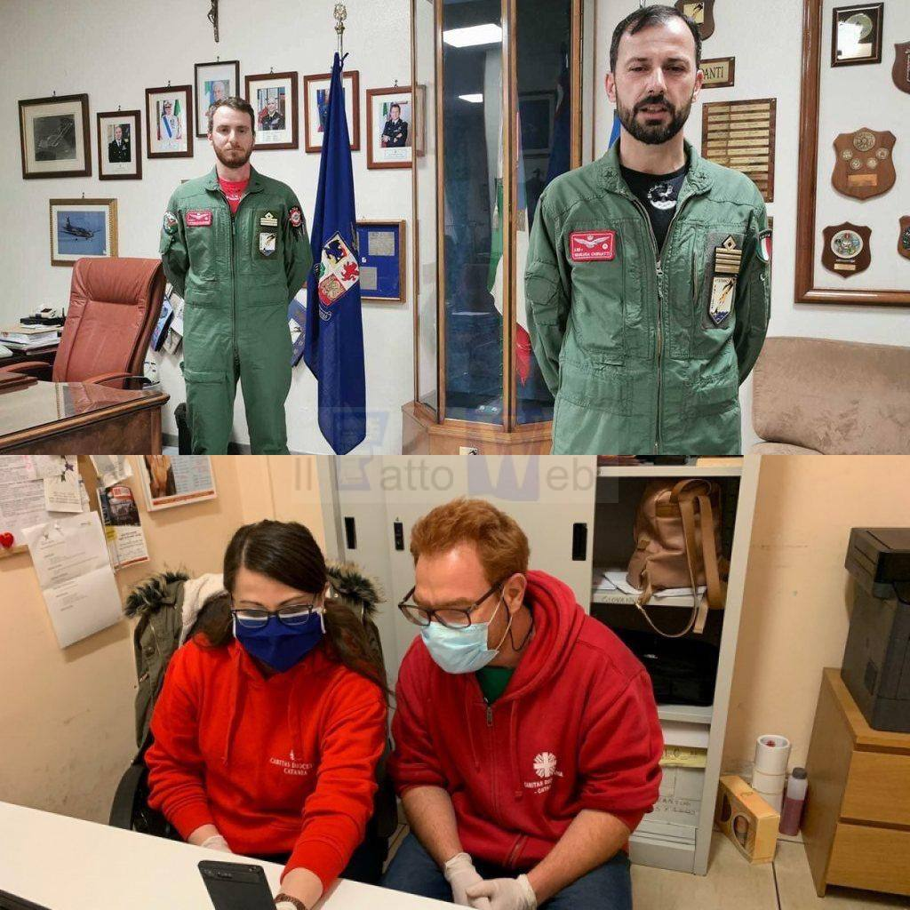 Sigonella, il personale dell'Aeronautica Militare dona 2300€ alla Caritas Diocesana di Catania