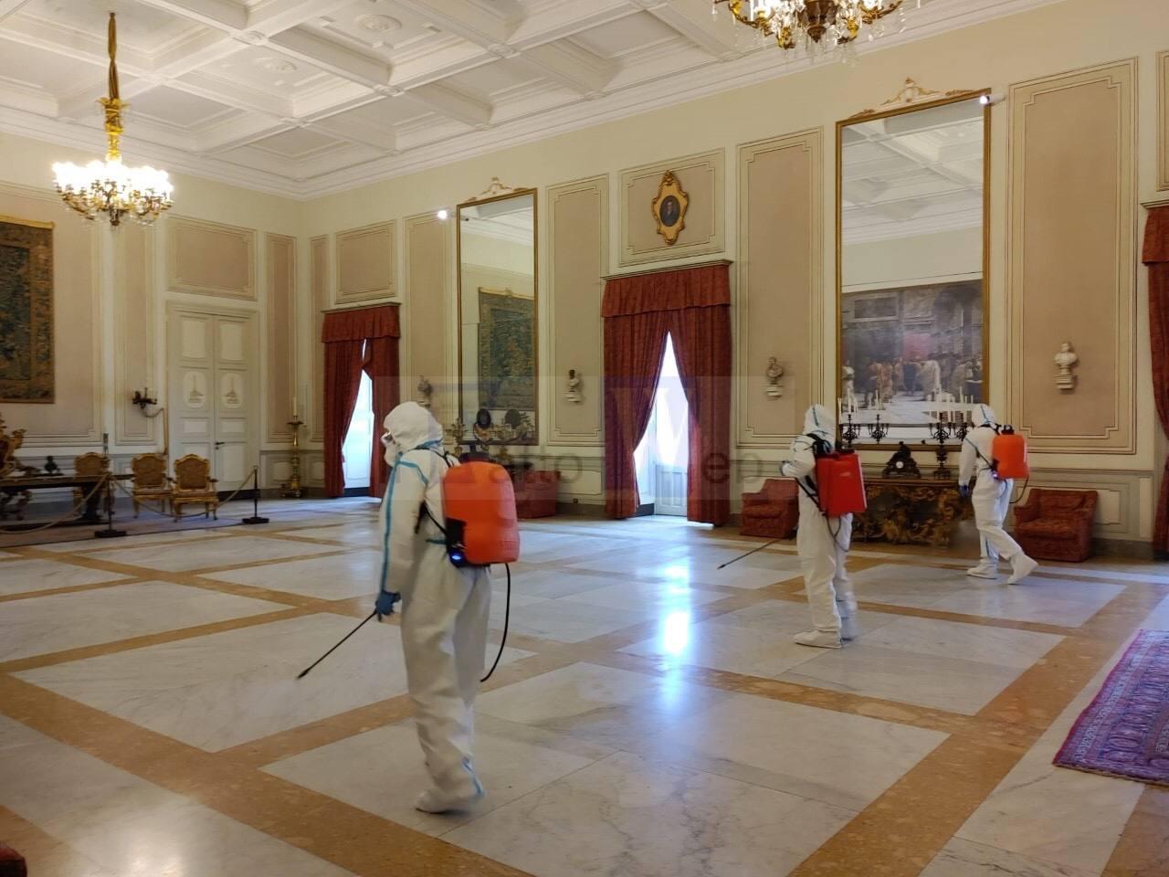 Coronavirus: l'Esercito igienizza edifici comunali e il Tribunale di Catania