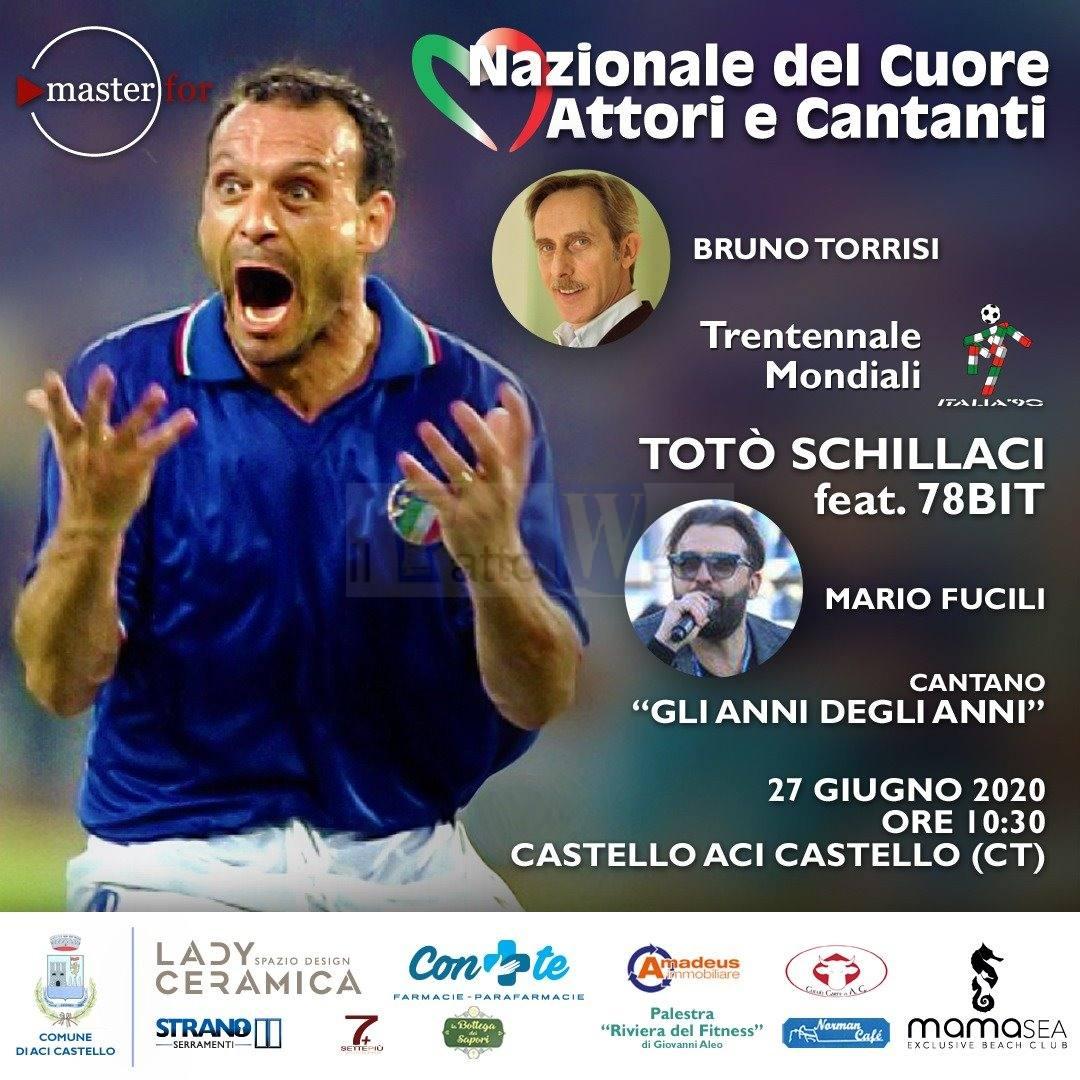 """""""Trentennale del Mondiale Italia '90"""":  ancora protagonista Totò Schillaci, questa volta nel ruolo di cantante"""