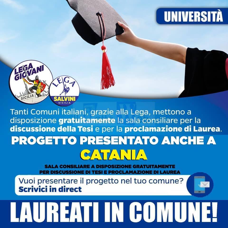 "MESSINA (segretario LEGA Catania): ""Presentata iniziativa per i laureandi etnei promossa dai nostri giovani"""
