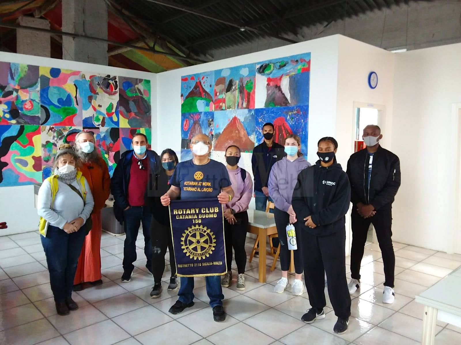 Il Rotary Club Catania Duomo 150 e militari americani della NAS Sigonella a supporto del quartiere Angeli Custodi di Catania