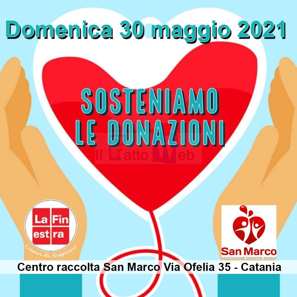 """Associazione San Marco donatori sangue e La Finestra: """"Sosteniamo la donazione. Domenica 30 Maggio in Via Ofelia"""""""