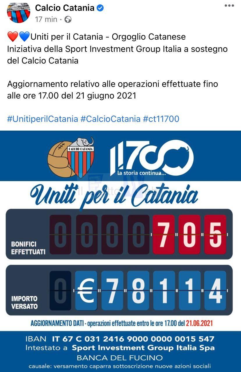 Uniti per  il Catania Orgoglio catanese:  Iniziativa della Sport Investment Group Italia a sostegno del Calcio Catania